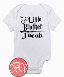 Harry Potter Personalized Little Brother Baby Onesie