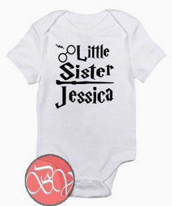 Harry Potter Personalized Little Sister Baby Onesie