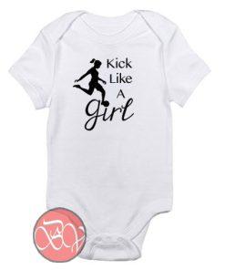 Kick Like A Girl Soccer Baby Onesie