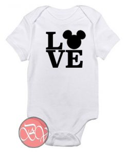 LOVE Mickey Mouse Baby Onesie