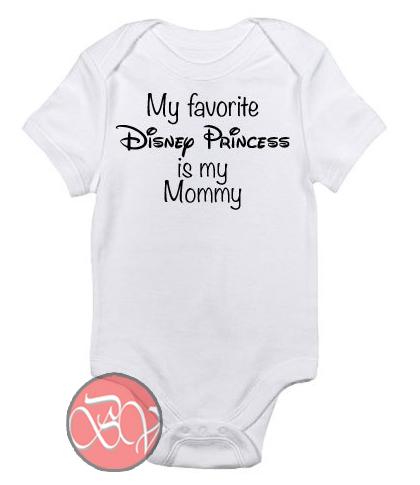 1656df7b9 My favorite Disney Princess Baby Onesie | Cool Baby Onesie Designs