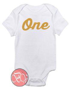 One Birthday Baby Onesie