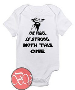 The Force is Strong With This Baby Onesie
