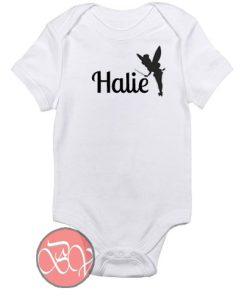 Tinkerbell Custom Name Baby Onesie