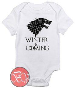 Winter is Coming Game of Thrones Baby Onesie