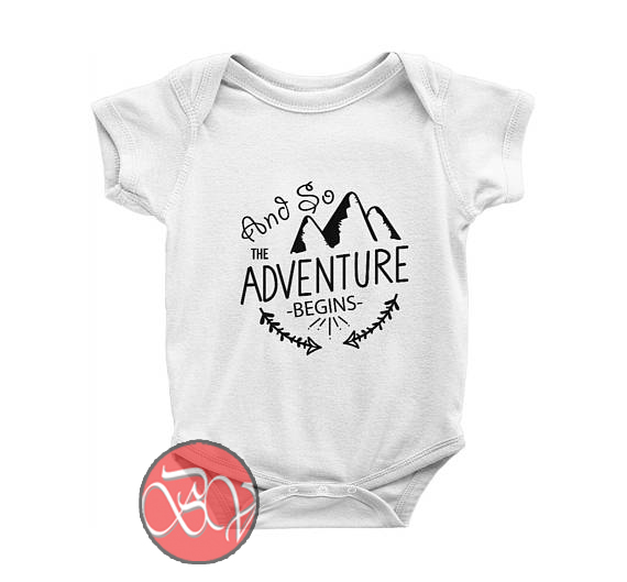 And so the Adventure Begins Baby Onesie