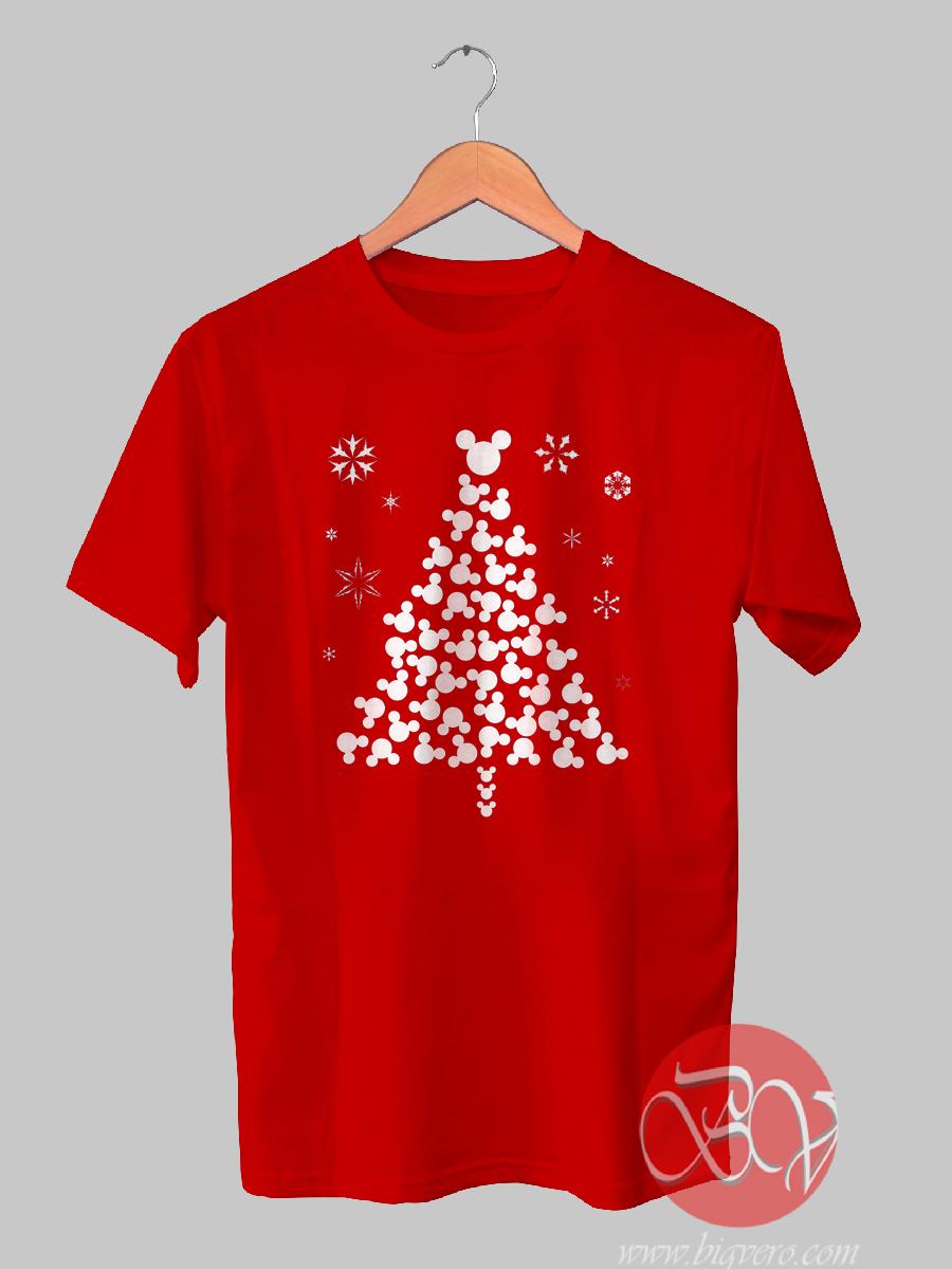 Christmas Mickey Head Tshirt Cool Tshirt Designs