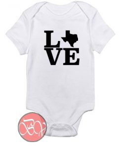 LOVE Custom State Baby Onesie