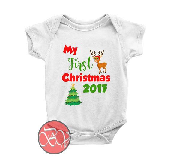 33cf62607 My First Christmas Baby Onesie
