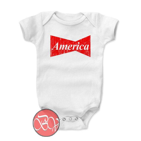 America Bowtie Baby Onesie