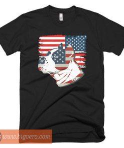 American Flag Pitbull Tshirt
