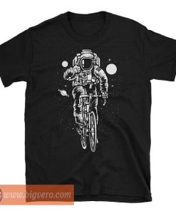 Astronaut Biking To The Moon Tshirt