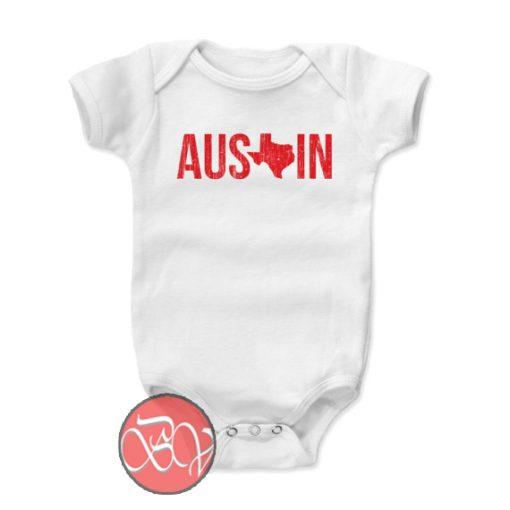 Austin Texas Star Baby Onesie