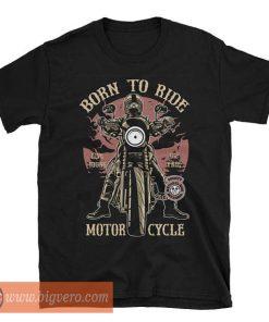 Born To Ride Motorcycle Black Tshirt