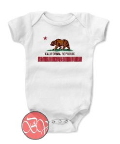 California Republic State Flag RG Onesie