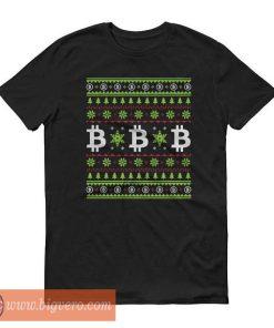 Christmas Bitcoin Sweater Tshirt