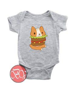 Corgi Burger Baby Onesie