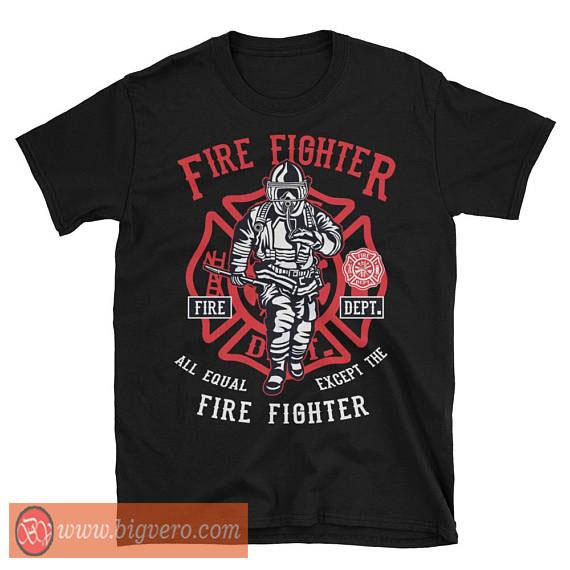 Fire fighter tshirt cool tshirt designs for Fire department tee shirt designs