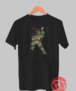 Michael Turtles Ninja Typograph Tshirt