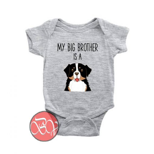 My Big Brother Sister is a Bernese Mountain Dog Baby Onesie