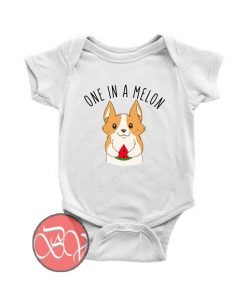 One in a Melon Corgi Dog Baby Onesie