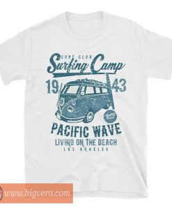 Surfing Camp T Shirt Pacific Wave Team