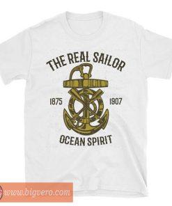 The Real Sailor Ocean Spirit T Shirt Ocean Beach Summer Vacation Tee