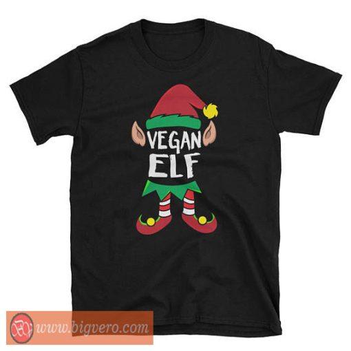 Vegan Elf Christmas T-Shirt
