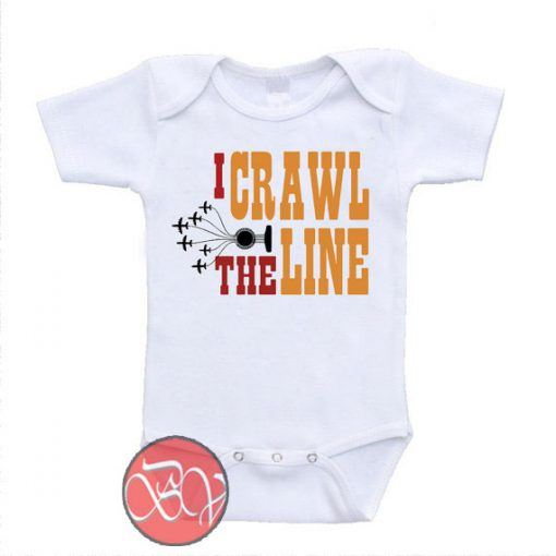 I Crawl The Line Johnny Cash Tribute Baby Onesie