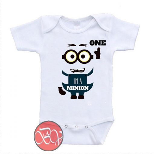 One In A Minion Funny Baby Onesie