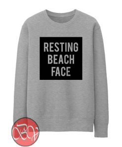 Resting Beach Face Sweatshirt