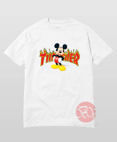 Mickey Mouse X Thrasher Parody T-Shirt