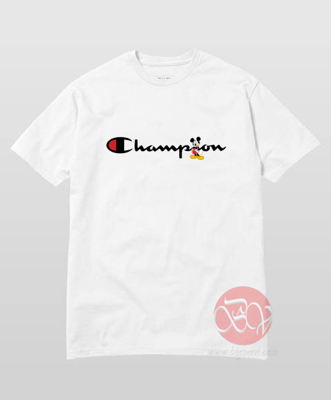 Mickey Mouse X Champion Parody T-Shirt