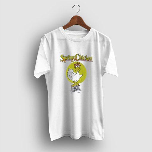 Comical Cartoon Spring Chicken Funny T-Shirt