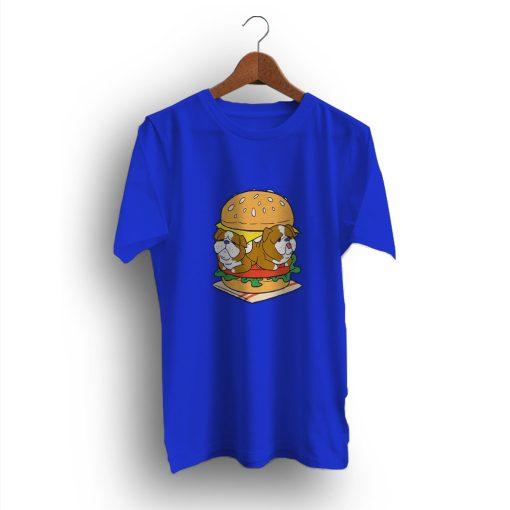 Hamburger Funny English Bulldog T-Shirt
