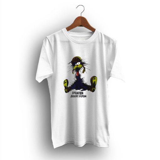 The Cat Operation Desert Storm Cartoon T-Shirt