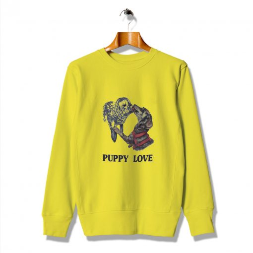 Animated Funny Lovers Puppy Love Dog Sweatshirt