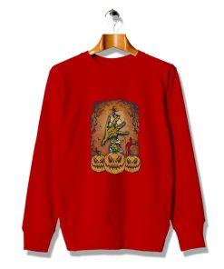 Awesome Idea Ghost Spooky Pumpkin Halloween Sweatshirt