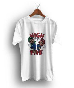 Cheap High Five Mario And Lugi Vintage T-Shirt