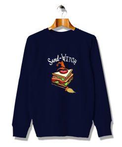 Sand Witch Foodie Funny Halloween Sweatshirt