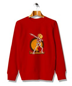 Skelengton Dabbing Cheap Halloween Sweatshirt