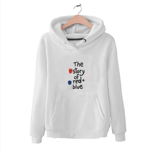 Awesome In Line The Story Of Red Plus Blue Hoodie