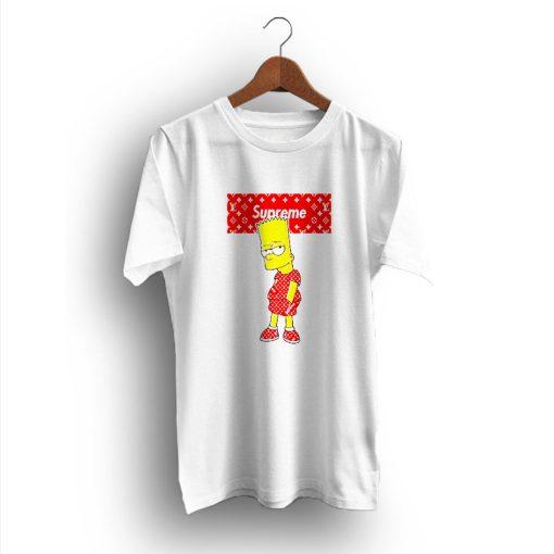 Bart Simpson Fan Gift Supreme x Louis Vuitton T-Shirt