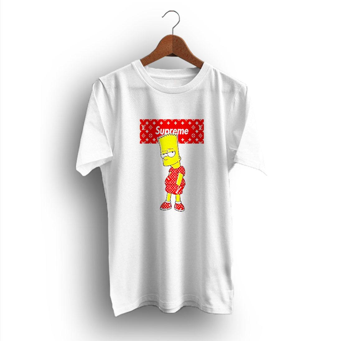 Bart Simpson Fan Gift Supreme X Louis Vuitton T Shirt Design Bigvero