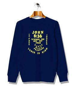Slogan Jesus Is King Kanye West Sweatshirt