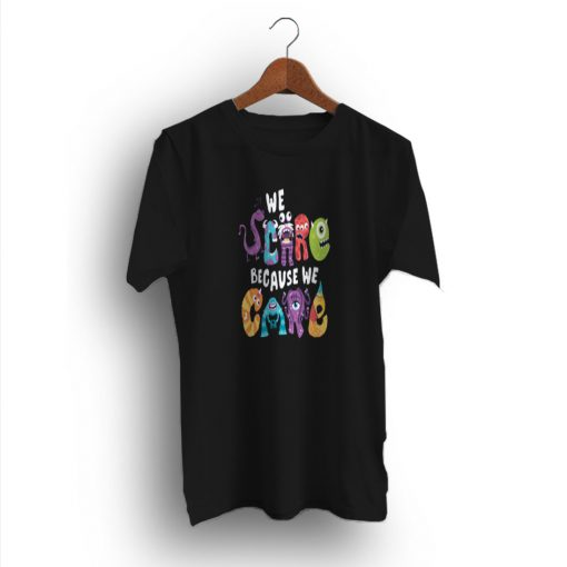 Cool Graphic Minion We Scare Because We Care T-Shirt