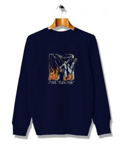 Neon Fire Graphic Mtv Future Vintage Sweatshirt
