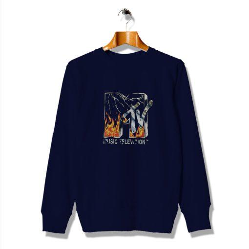 Neon Fire Graphic Mtv Future Vintage Sweatshirt