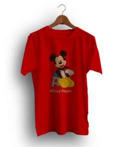 Quickly Buy Mickey Mouse Red Vintage T-Shirt