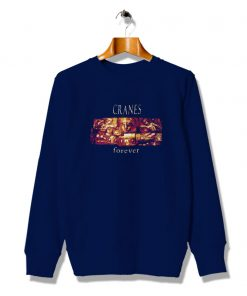 Vintage Cranes Forever Graphic About Sweatshirt